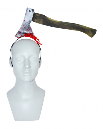 Blutiger Haarreif mit Axt