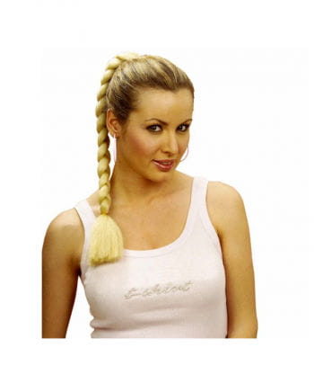 Haarteil blonder Zopf