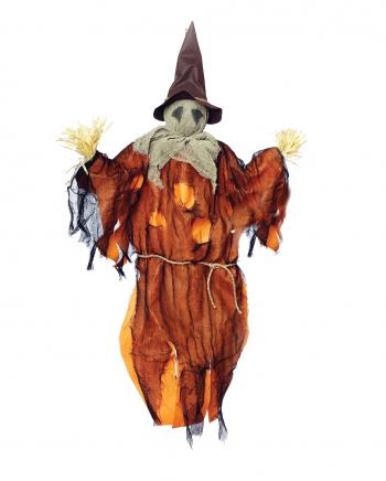 Hanging Scarecrow With Straw Orange