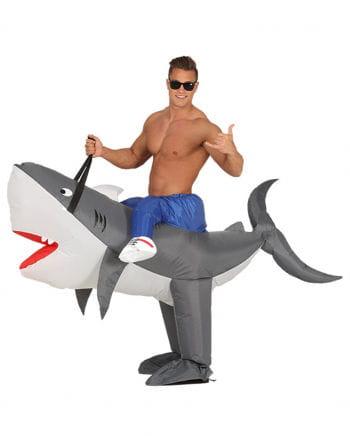 Aufblasbares Haifisch Huckepack Kostüm