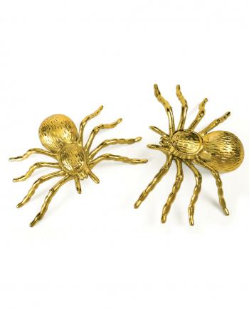 Deko Spinnen für Halloween Gold 2 St.