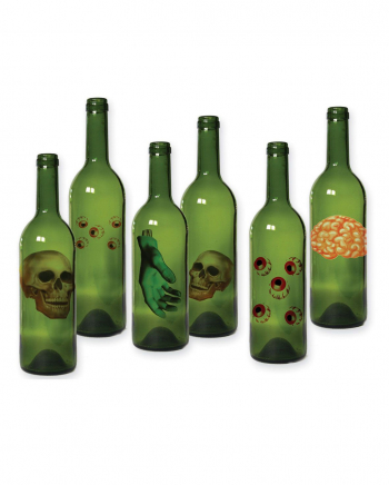 Halloween Bottles Labels 6 Pcs.