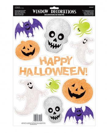 11-tlg. Halloween Glitzer Sticker Set