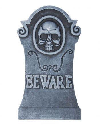 Halloween Grabstein Totenkopf & Inschrift