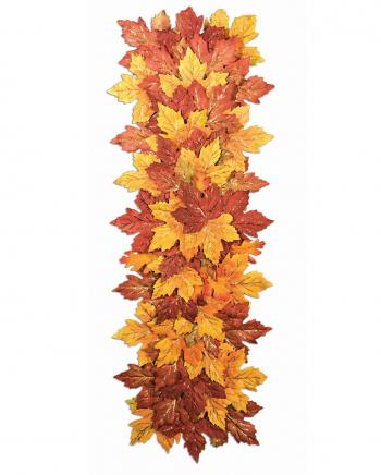 Herbstblätter als Halloween Tischläufer