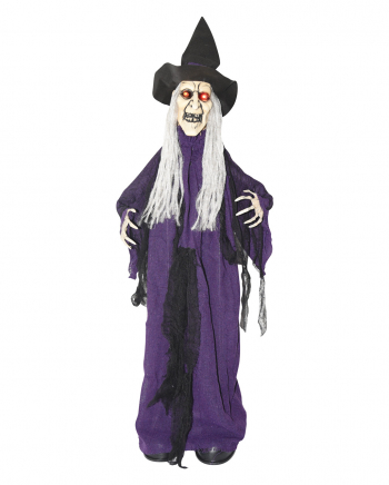 Halloween Witch With Movement, Light & Sound 90 Cm