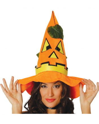 Halloween Pumpkin Hat With Leaves