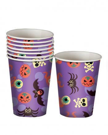 Halloween Monster Paper Cups 8 Pcs.