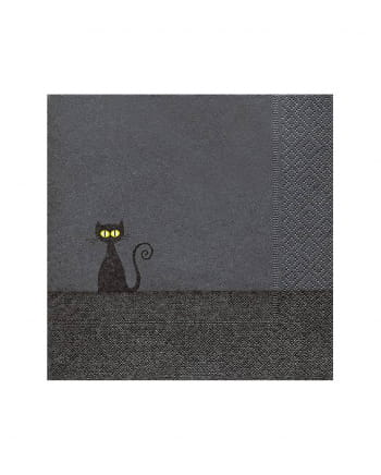 Black Cat Halloween Napkins 20 Pieces