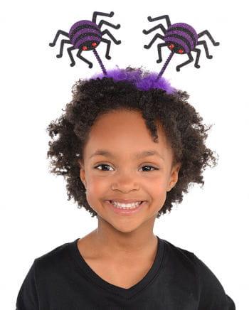 Halloween Haarreif Spinne Violett