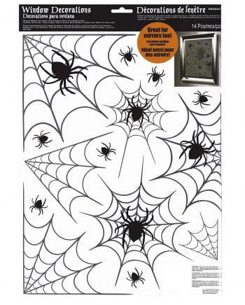 Halloween Spinnennetz Fenster Aufkleber