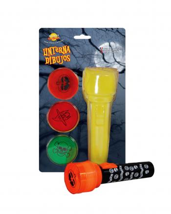 Halloween Flashlight With Spooky Motives 18 Cm