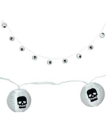 Totenschädel LED Halloween Girlande 220cm