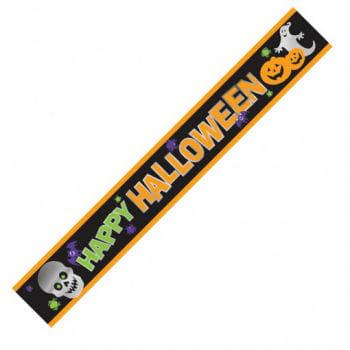 """""""Happy Halloween"""" Banner mit Gruselmotiv"""