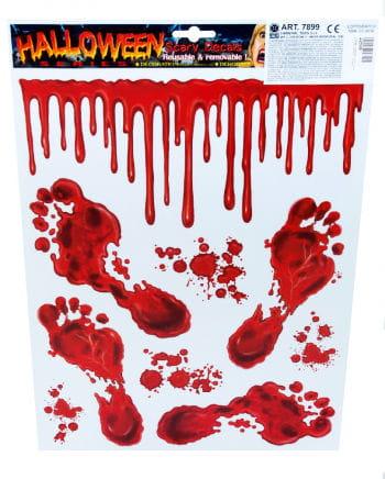 Halloween Aufkleber blutige Füße