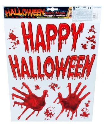 Halloween Sticker blutige Hände
