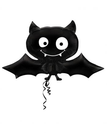 Fledermaus Folienballon schwarz
