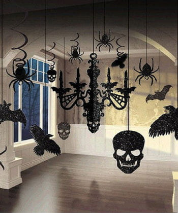 Halloween Glitter Hanging Decoration