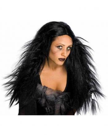 Schwarze Gothic Hexenperücke