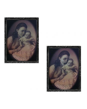 Hologram Portrait Mother With Baby