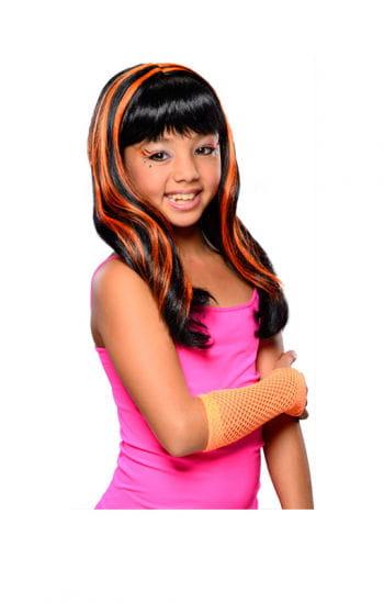 Halloween Child Wig neon / orange