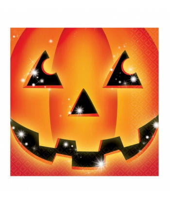 Halloween Pumpkin Napkins 16 Pcs