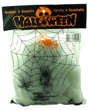 Halloween Spinnweben mit 4 Spinnen