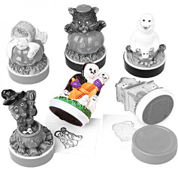 Halloween Rubber Stamp Musical Ghost