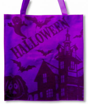 lila Halloween Stofftasche