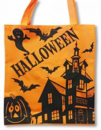 orange Halloween Stofftasche