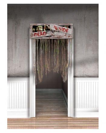 """Halloween door curtain """"DEAD INSIDE"""""""