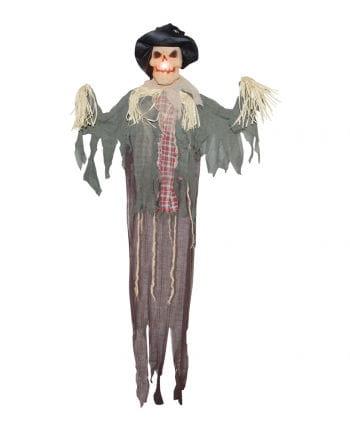 Halloween scarecrow with LED strobe 160 cm