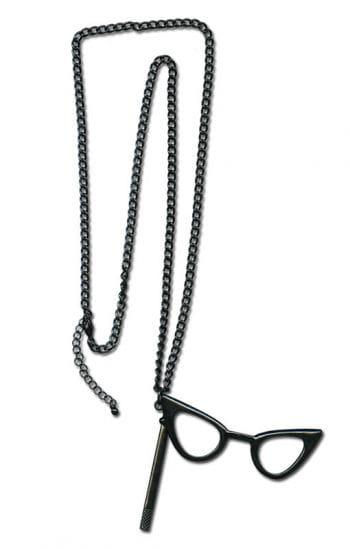 Halskette mit Cat Eye Brille