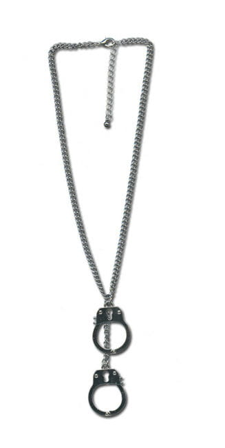 Necklace with handcuffs