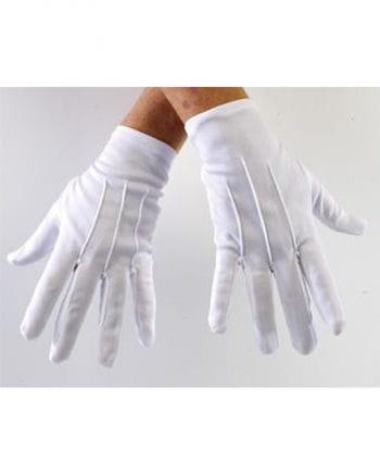 Weiße Kostümhandschuhe für Erwachsene