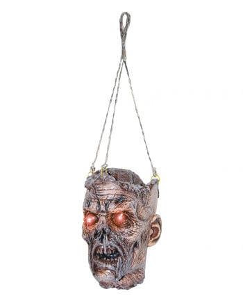 Zombie Schädel mit LED-Augen