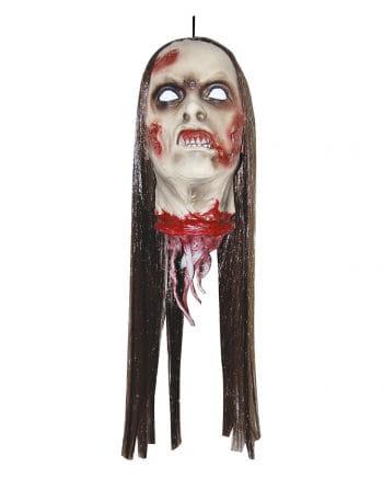 Abgehackter Zombie Frauenkopf