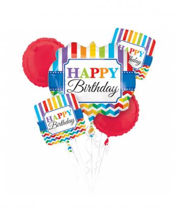 Buntes Happy Birthday Folienballon Bouquet