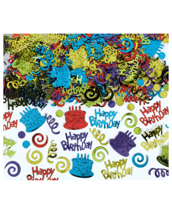 Happy Birthday Metallic Confetti 70g