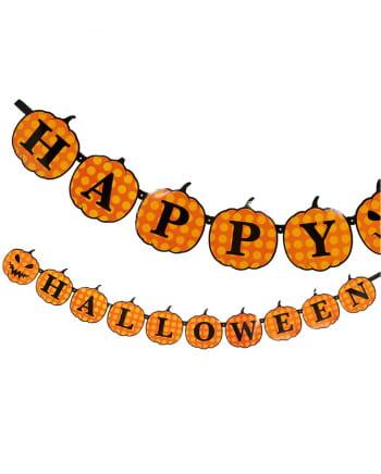 Happy Halloween Pumpkin Garland 3m