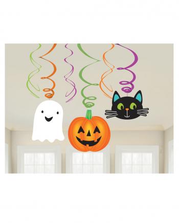 Fröhliche Halloween Spiralen Deko