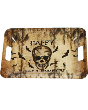Tablett Happy Halloween Totenkopf