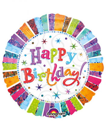 Runder Happy Birthday Ballon