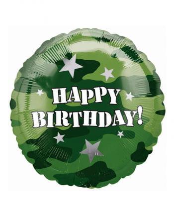 Camouflage Happy Birthday Foil Balloon