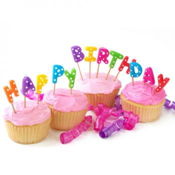 Happy Birthday Buchstabenkerzen