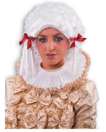 Kostümkragen Weiß mit Spitze