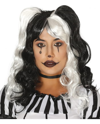 Harley Queen Wig Black/White