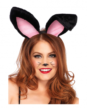 Rabbit Plush Ears Black