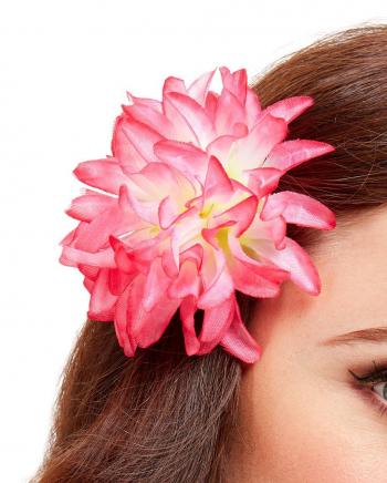 Tropical Flowers Hair Clip Pink