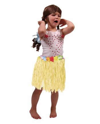 Gelber Bast Hawaii Rock für Kinder